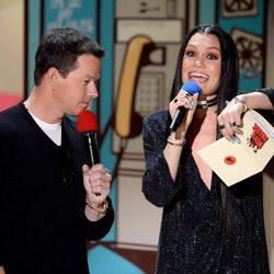 Mark Wahlberg and Jessie J during MTV Movie Awards 2015