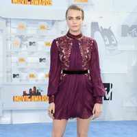 Cara Delevingne at the MTV Movie Awards 2015 red carpet
