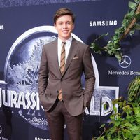 Nick Robinson at the 'Jurassic World' premiere in Hollywood