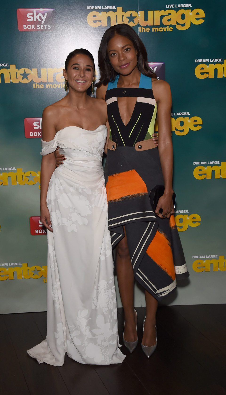 Emmanuelle Chriqui and Naomie Harris at the 'Entourage' after party in London