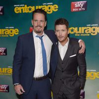 Kevin Dillon and Kevin Connolly at the 'Entourage' premiere in London