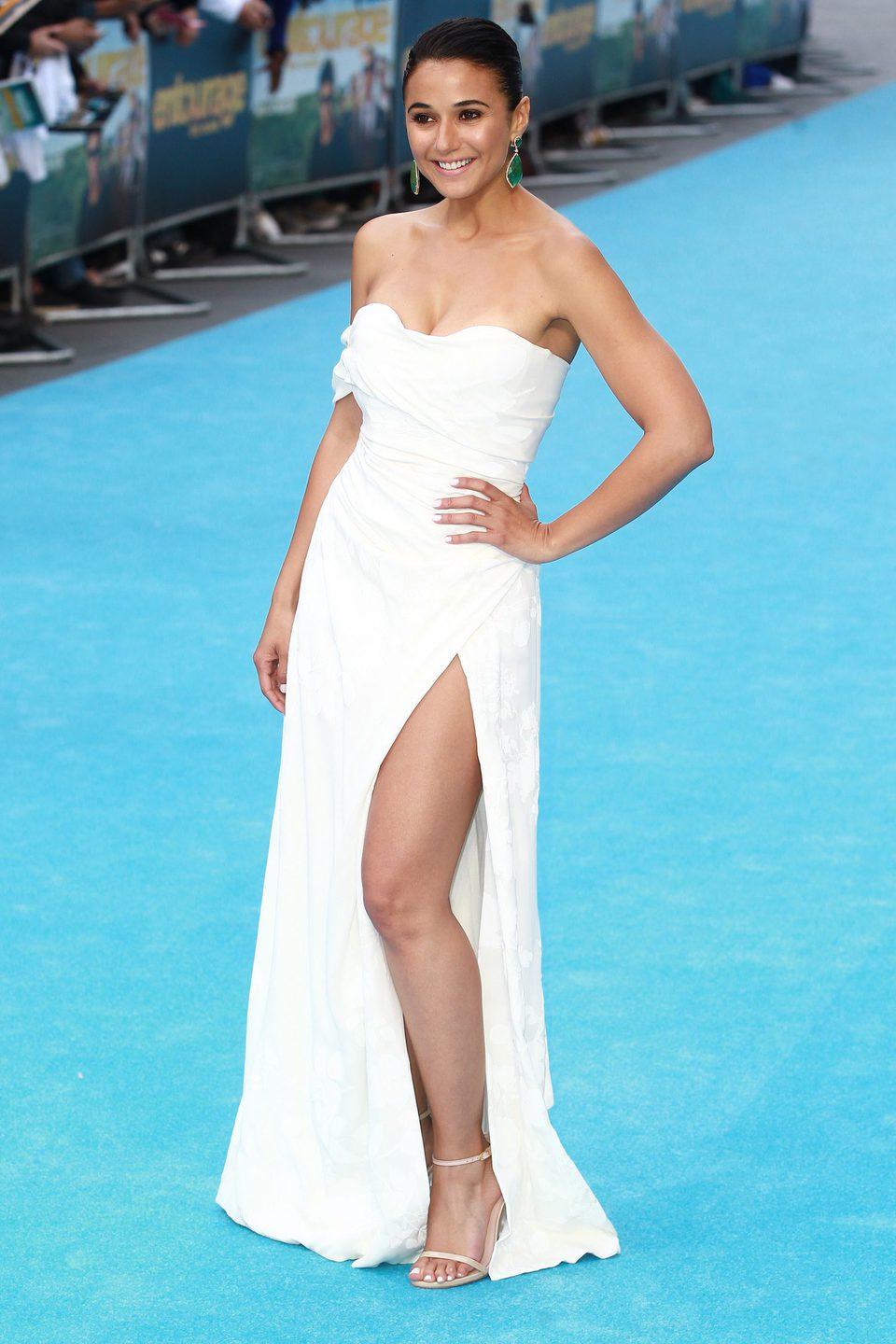 Emmanuelle Chriqui at the 'Entourage' premiere in London
