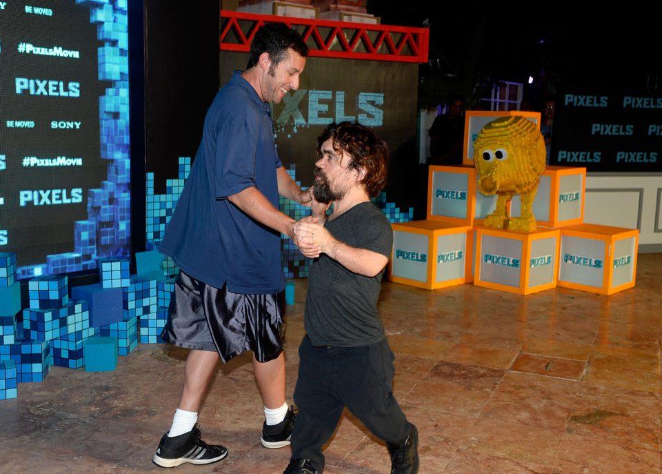 Adam Sandler and Peter Dinklage dance in Cancun