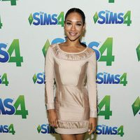 Actress Candice Patton poses in the green room at the 2015 Teen Choice Awards