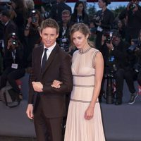 Eddie Redmayne and Hannah Bagshawe at the 72nd Venice Film Festival