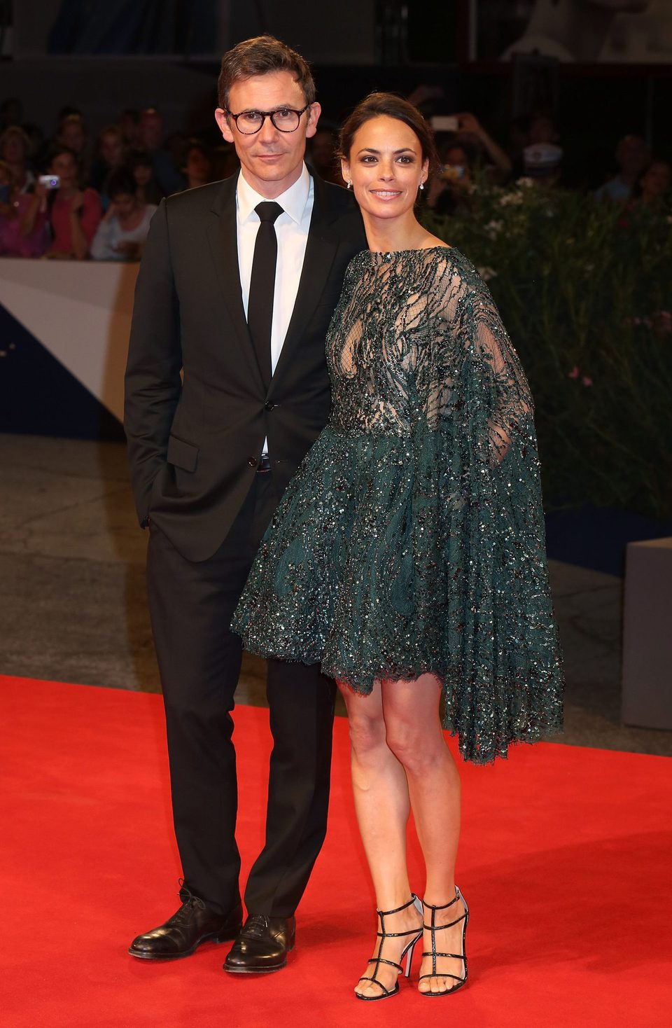 Michel Hazanavicius and Bérénice Bejo at the 72nd Venice Film Festival