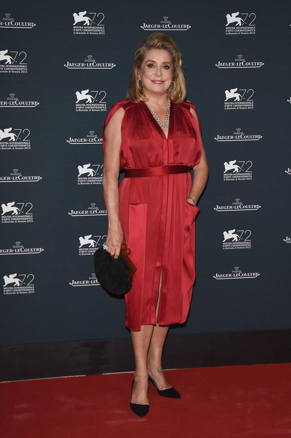Catherine Deneuve at the 72nd Venice Film Festival