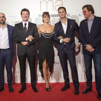 The 'Ma ma' team at the movie premiere in Madrid
