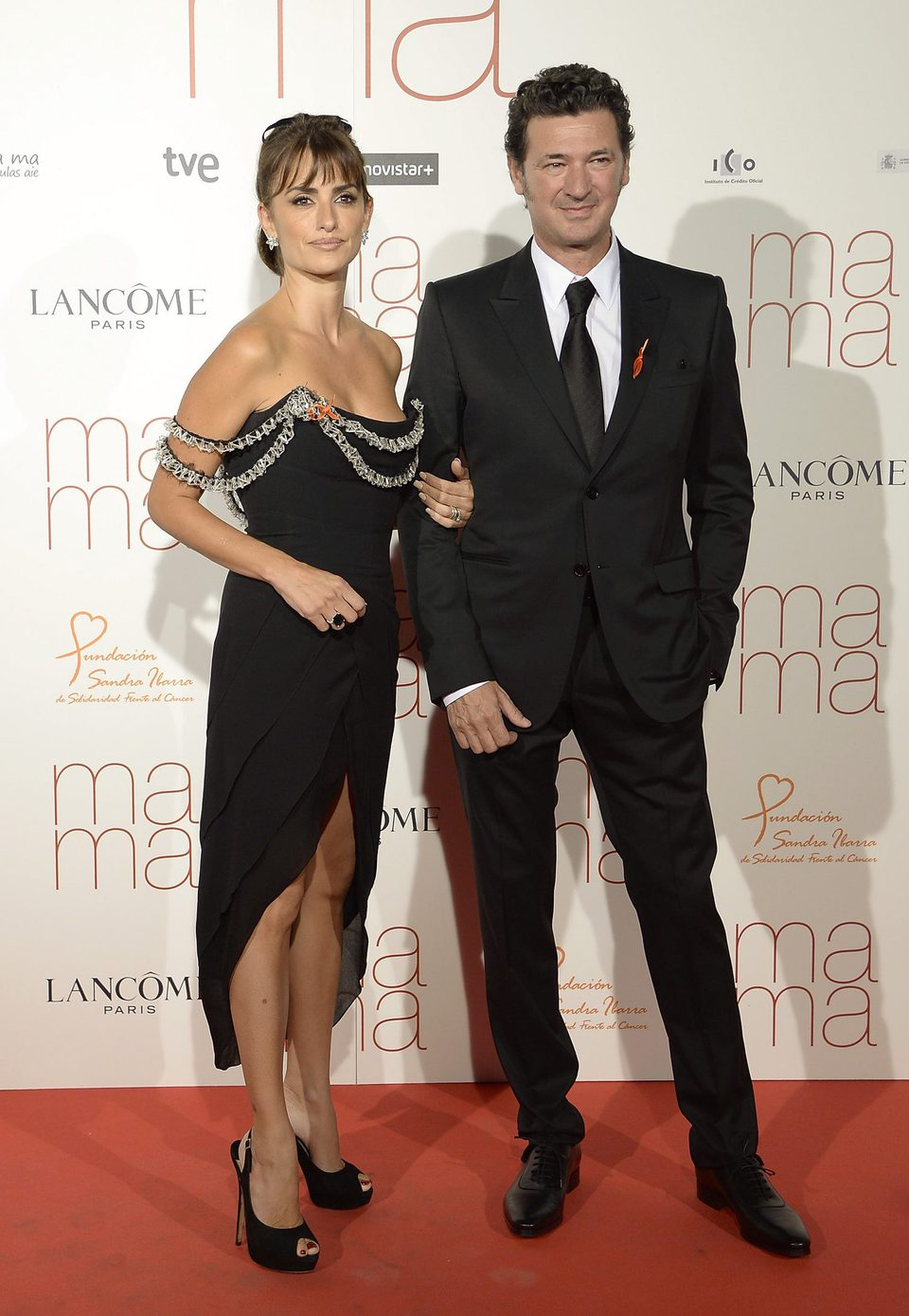 Penélope Cruz and Julio Médem at the 'Ma ma' premiere in Madrid