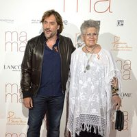 Javier Bardem and Pilar Bardem at the 'Ma ma' premiere in Madrid