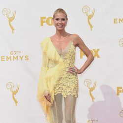 Heidi Klum at the Red carpet at the Emmys 2015