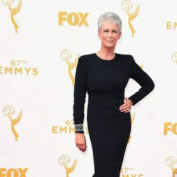 Jaime Lee Curtis at the red carpet at the Emmys 2015