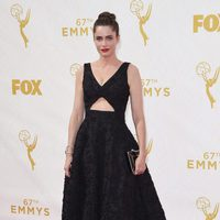 Amanda Peet at the red carpet at the 2015 Emmy Awards