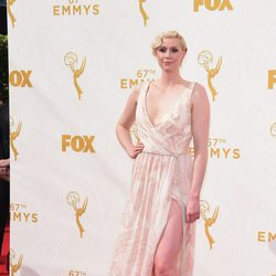 Gwendoline Christie at the red carpet at the Emmys 2015