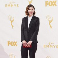 Carrie Brownstein at the red carpet of the 2015 Emmy Awards