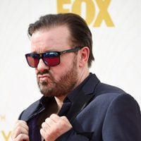 Ricky Gervais at the 2015 Emmy Awards red carpet