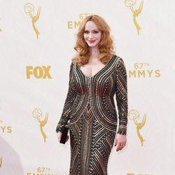 Christina Hendricks at the 2015 Emmys red carpet
