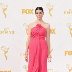 Jessica Pare at the 2015 Emmy awards red carpet