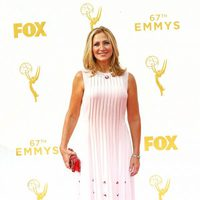 Edie Falco at the Emmy Awards red carpet