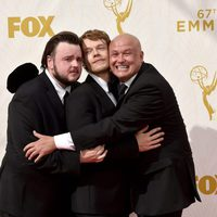 John Bradley-West, Alfie Allen and Conleth Hill before the 2015 Emmys