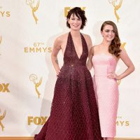 Lena Headey, Maisie Williams at the 2015 Emmy Awards red carpet