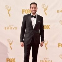 Zachary Levi on the red carpet before the 2015 Emmy Awards