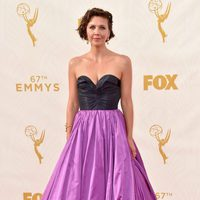 Maggie Gyllenhaal at the 2015 Emmy awards red carpet