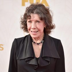 Lily Tomlin at the 2015 Emmy awards red carpet