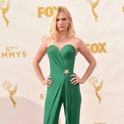 January Jones at the 2015 Emmy awards red carpet