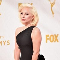 Lady Gaga at the 2015 Emmy Awards red carpet