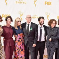 'Transparent' cast and writer at the 2015 Emmy awards red carpet