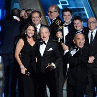 The 'Veep' team receiving the 2015 Emmy Award