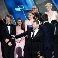 The 'Game of Thrones' team receiving the 2015 Emmy Award