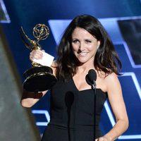 Julia Louis Dreyfus receiving the 2015 Emmy Award