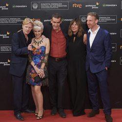 Michael Schaeffer, Anita Dobson, Rufus Norris, Clare Burt and Paul Thornley attend the red carpet for the 63rd San Sebastian Film Festival Closing Ceremony