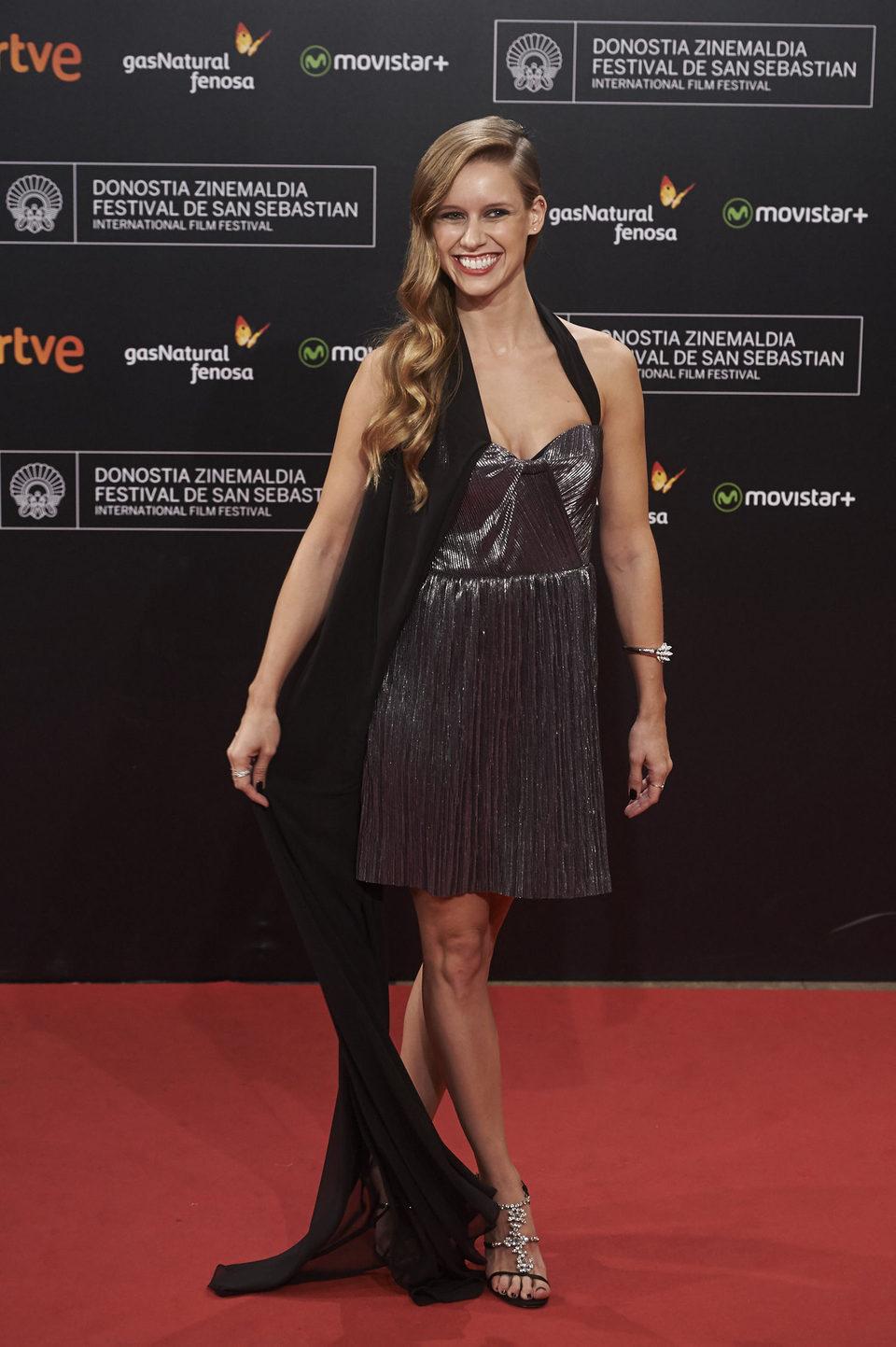 Spanish actress Manuela Velles attends the closing ceremony red carpet of the 63rd San Sebastian International Film Festival