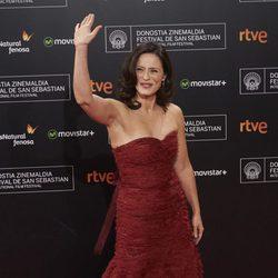 Spanish actress Aitana Sanchez Gijon attends the closing ceremony red carpet of the 63rd San Sebastian International Film Festival