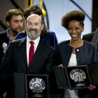 Javier Camara, Silver Shell for Best Actor for the film 'Truman', and Yordanka Ariosa, Silver Shell for Best Actress for the film 'El Rey de la Habana (The