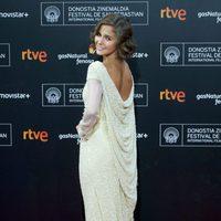 Natalia Sanchez attends the red carpet for the 63rd San Sebastian Film Festival Closing Ceremony