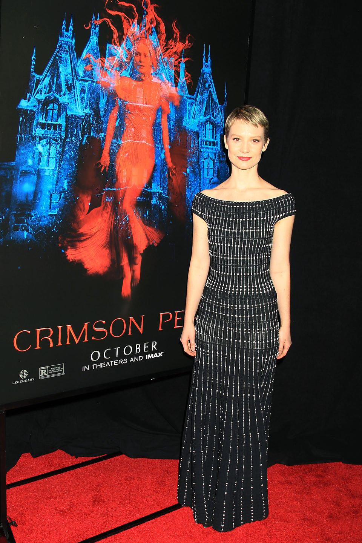 Mia Wasikowska at the NY premiere of 'Crimson Peak'