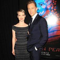 Tom Hiddleston and Mia Wasikowska at the NY premiere of 'Crimson Peak'