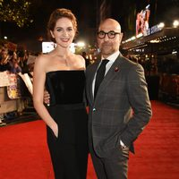 Stanley Tucci and his wife Felicity Blunt in 'The Hunger Games: Mockingjay - Part 2' London premiere