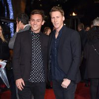 Tom Daley and Dustin Lance Black, in 'The Hunger Games: Mockingjay - Part 2' London premiere
