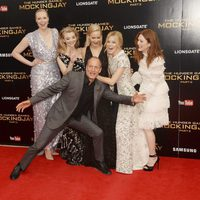 'The Hunger Games' actresses and Woody Harrelson in 'Mockingjay - Part 2' London premiere