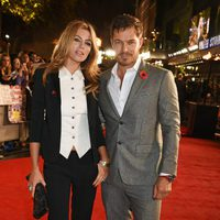 Abbey Clancy and Paul Sculfor in 'The Hunger Games: Mockingjay - Part 2' London premiere