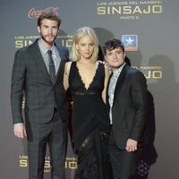 Liam Hemsworth, Jennifer Lawrence and Josh Hutcherson at 'The Hunger Games: Mockingjay - Part 2' premiere in Madrid