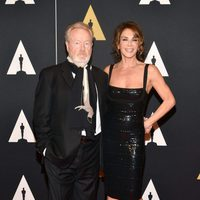 Ridley Scott and his partner in Governor's Awards 2015