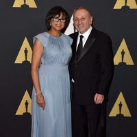 Cheryl Boone Isaacs and her husband in Governor's Awards 2015