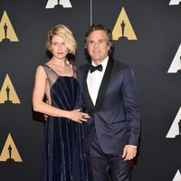 Mark Ruffalo and his wife in Governor's Awards 2015