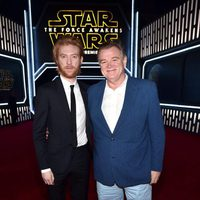 Domhnall and Brendan Gleeson in the 'Star Wars: The Force Awakens' Premiere